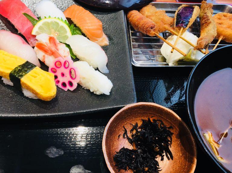 魚輝 寿司串カツランチ