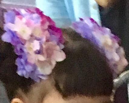 紫陽花髪飾り