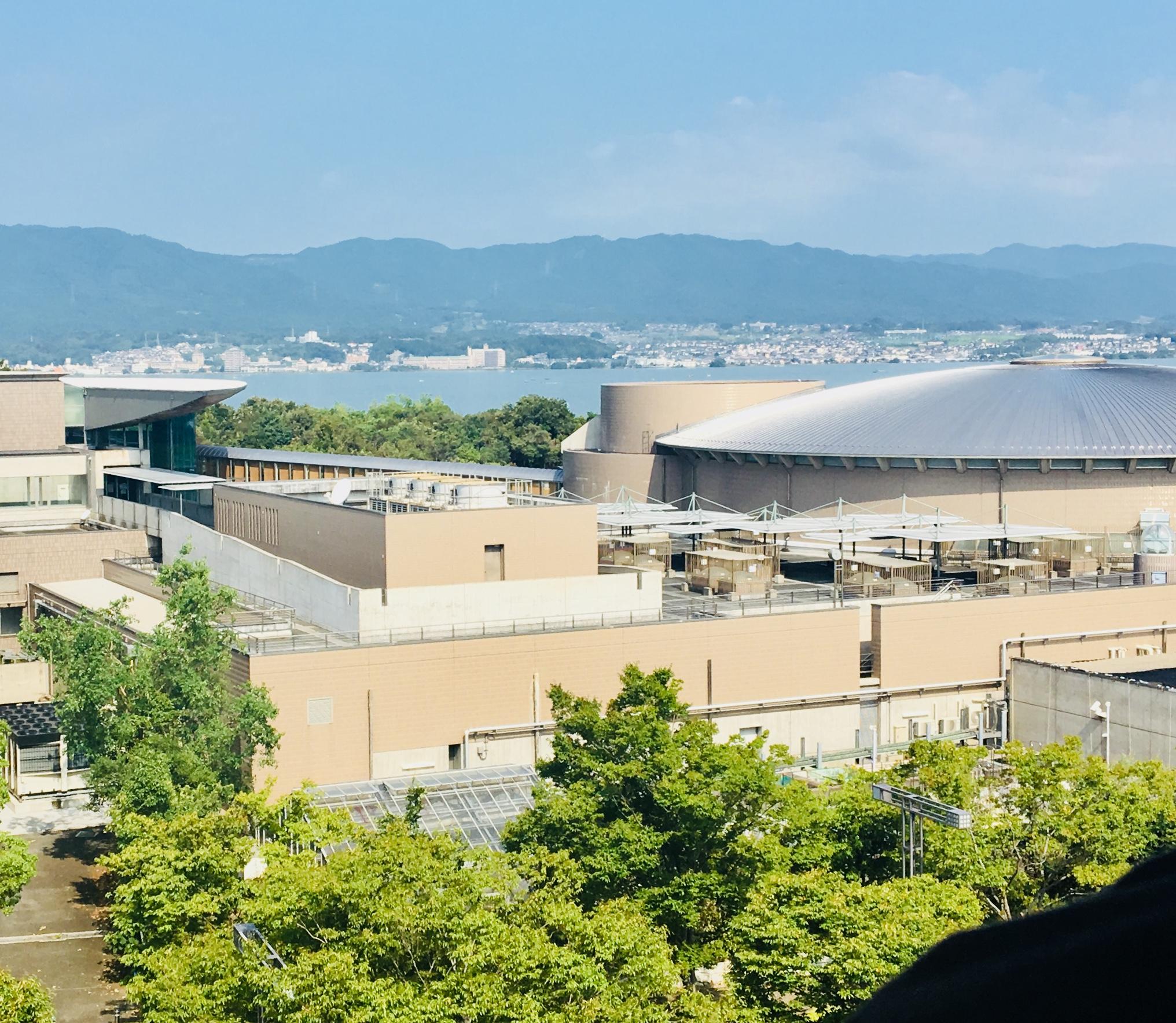 気球から琵琶湖博物館