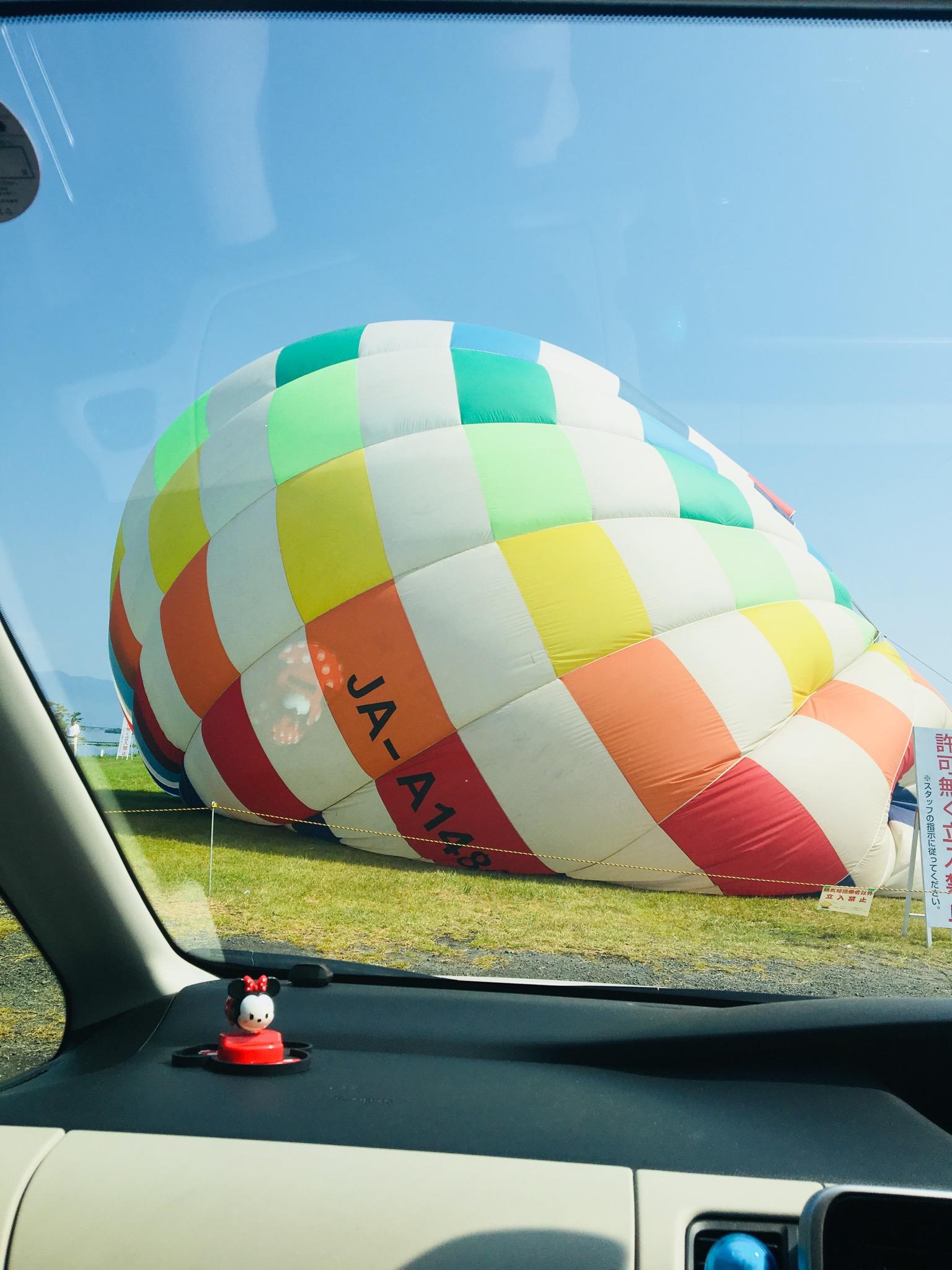 気球 萎む