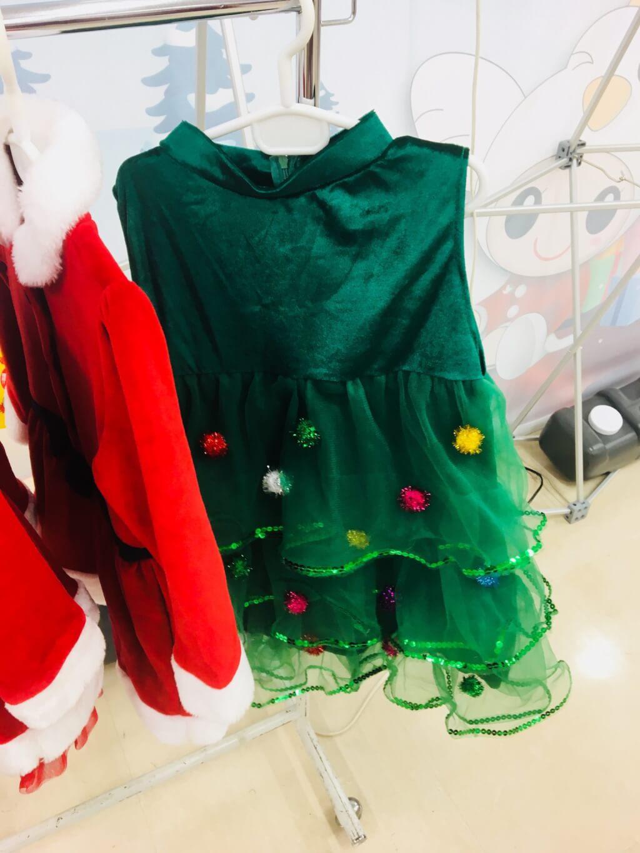 クリスマス緑ドレス